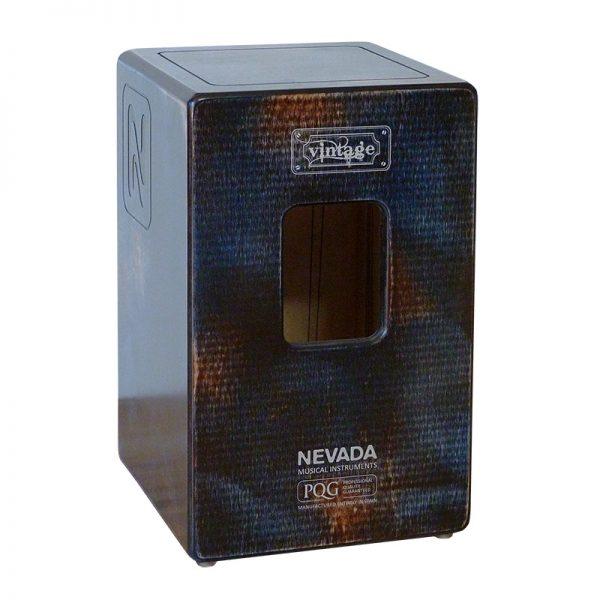 Nevada Vintage cajon drum- blue back