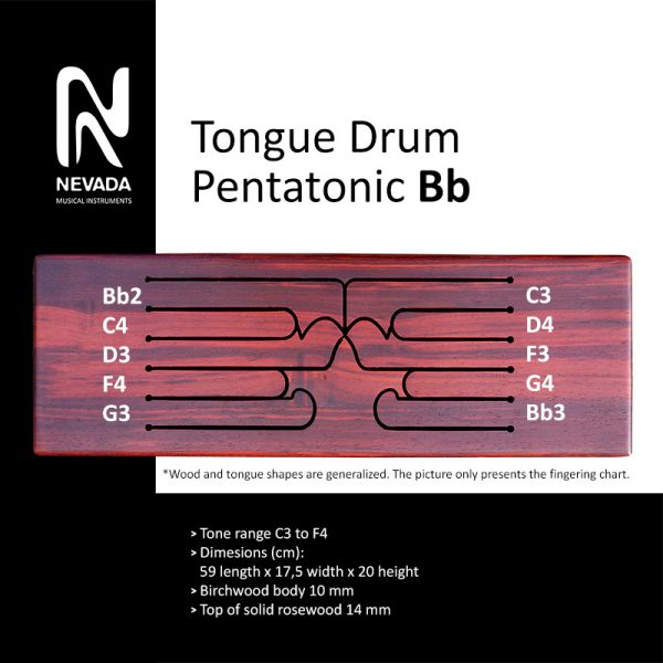 Tongue drum pentatonic Bb