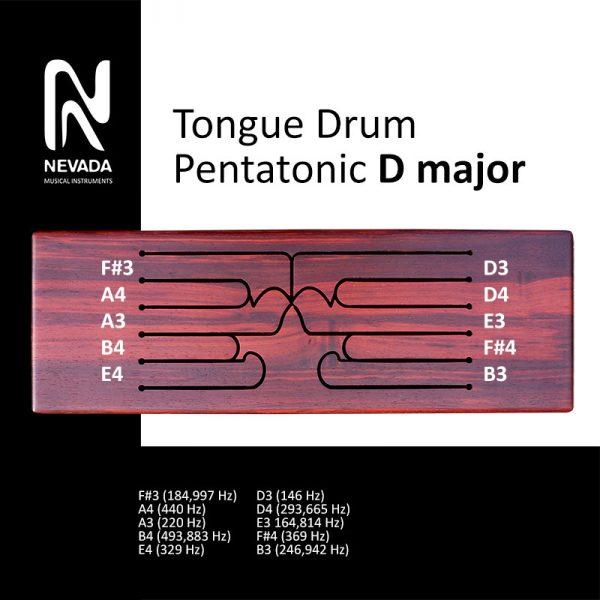 Tongue drum pentatonic D major