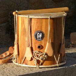 stave solid wood traditional drum olive