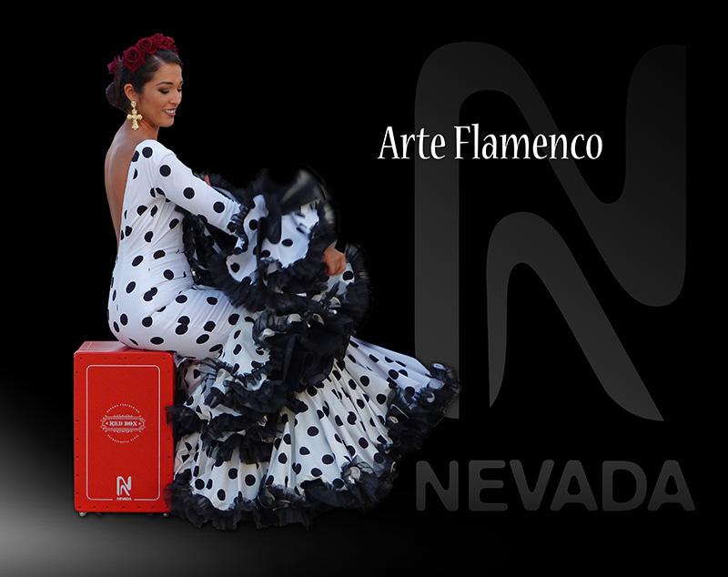Publicidad del cajon flamenco Red Box, Arte Flamenco