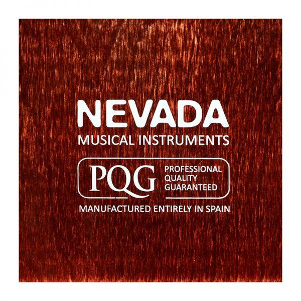 Detalle de la tapa trasera del cajón flamenco Nevada Vintage PQG Professional Quality Guaranteed
