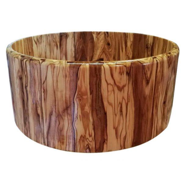 casco de caja de batería de madera maciza de olivo