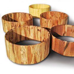 Cascos macizoa para cajas de batería de diferentes maderas