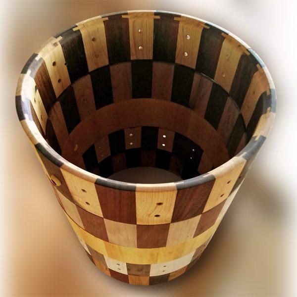 Pilón de cascos de maderasmacizas para cajas picolo de batería