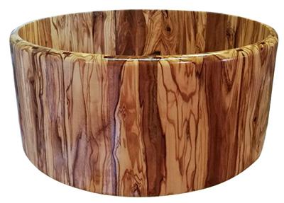 Casco de caja de bateria madera olivo