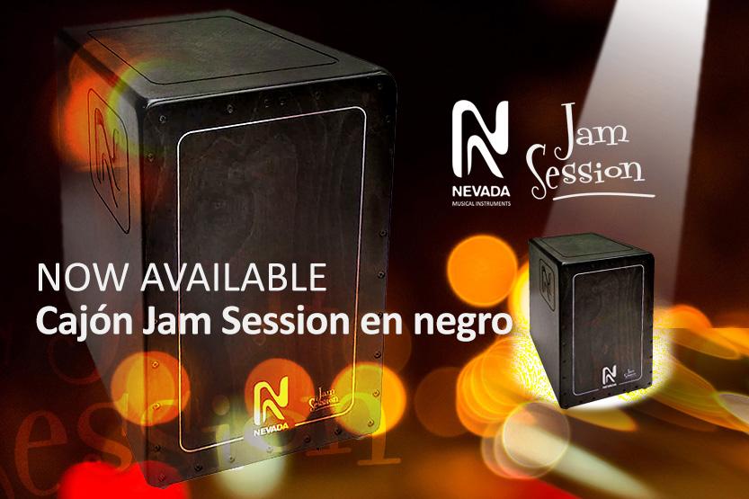 Jam session cajon Nevada, ahora disponible en madera negra
