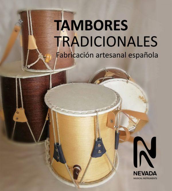 Tambores tradidionales doble capa