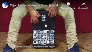 test Urban negro por un percusionista de flamenco
