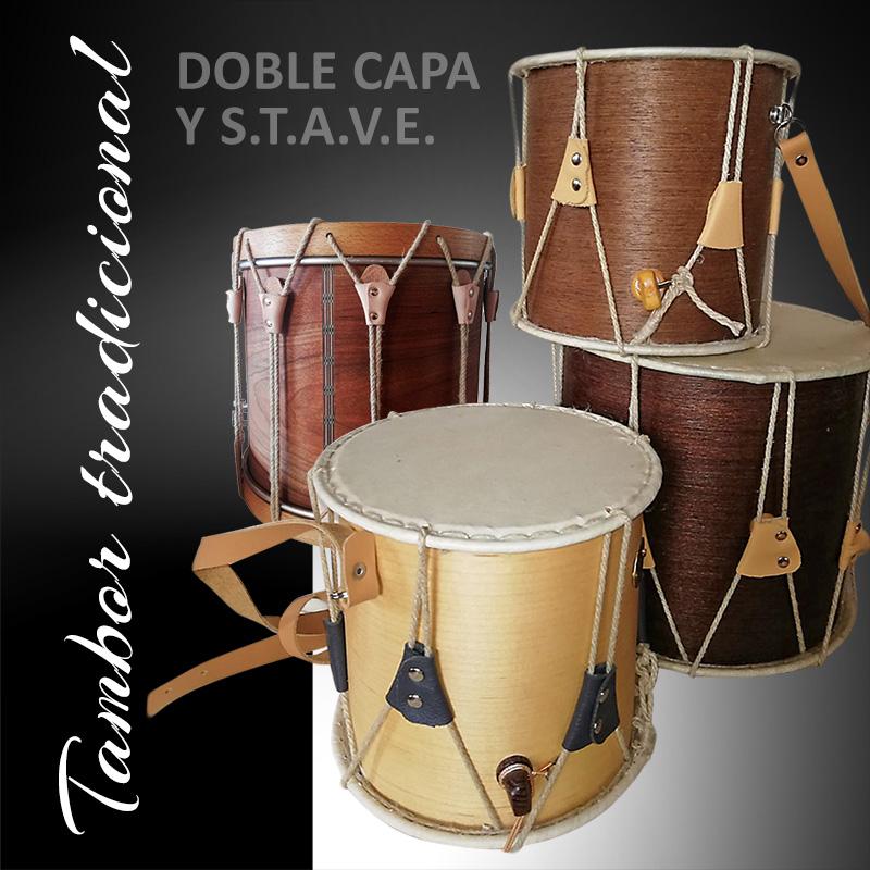 Tambores tradicionales de doble capa de chapa o macizos